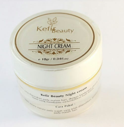 kefir night cream, cara merawat kulit wajah
